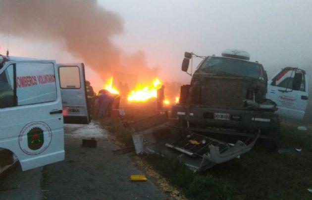 Accidente en ruta 9 a la altura de San Marcos Sud.