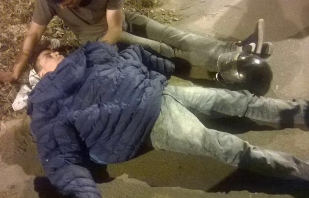 Un motociclista accidentado esperó más de tres horas la ambulancia.