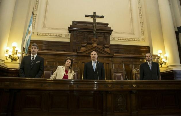 Horacio Rosatti , Elena Highton de Nolasco, Ricardo Lorenzetti y Juan Carlos Maqueda.