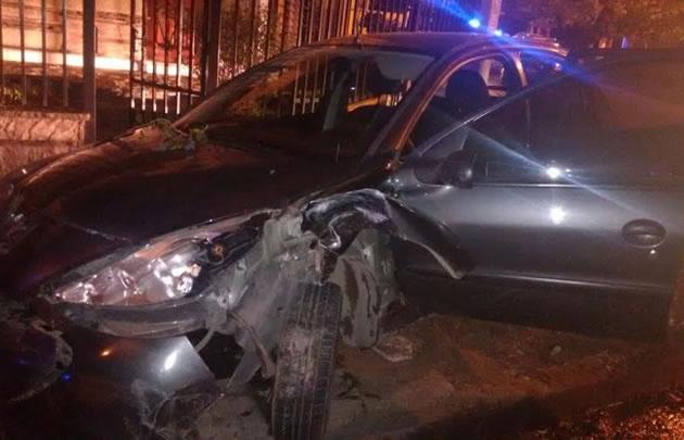 El Peugeot 207 impactó contra un árbol