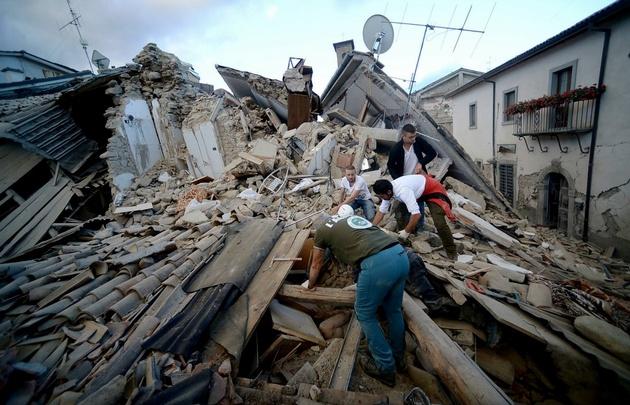 Se registraron 57 réplicas tras el gran sismo en Italia.