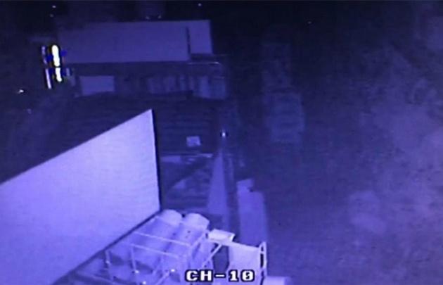 Las cámaras captaron el momento preciso del sismo.