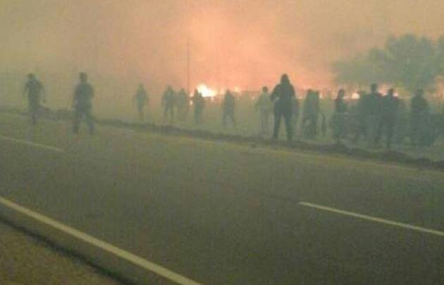 Incendios en San Luis. (Foto Twitter)