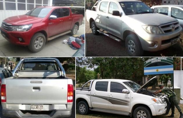 La banda robaba camionetas de alta gama en Buenos Aires para sacarlas del país.