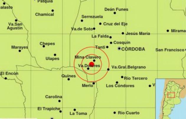 El sismo tuvo epicentro 97 kilómetros al suroeste de la capital cordobesa.
