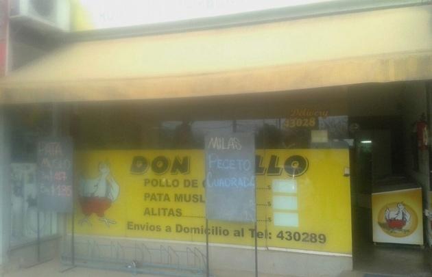 El local de Don Pollo, víctima de la delincuencia.
