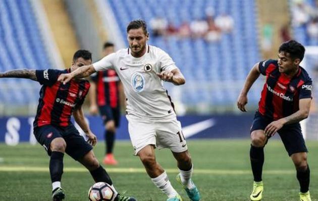 San Lorenzo perdió con Roma en Italia.