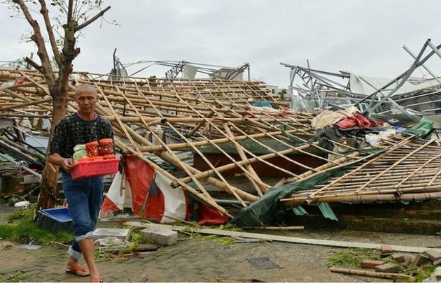 Al menos 13 muertos dejó el paso de un tifón en China (Foto: CNN).