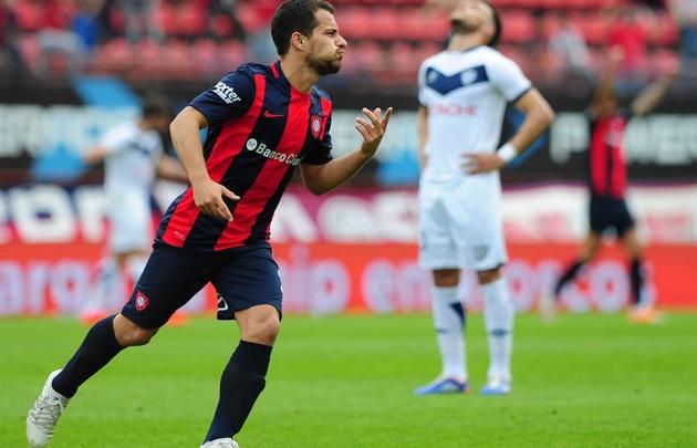 Sebastián Blanco realizó un gran partido ante Vélez.
