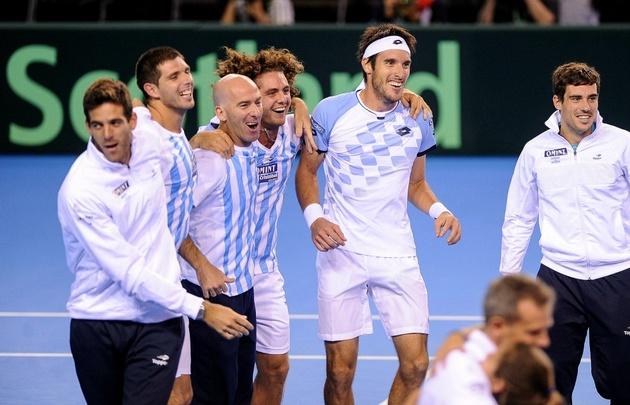 Mayer le ganó a Evans y Argentina es finalista de la Davis.