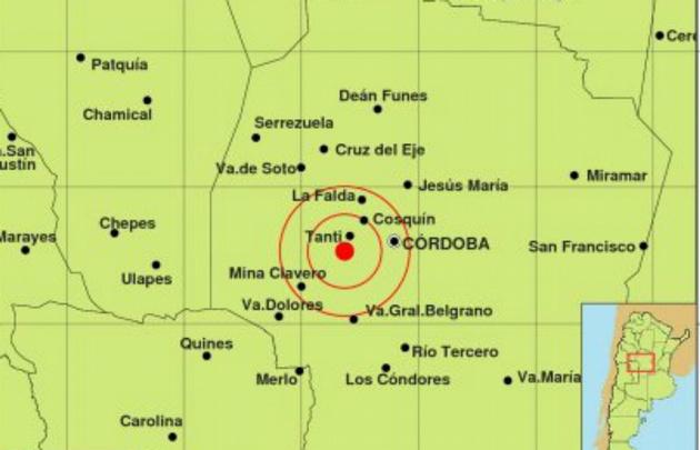 El temblor que despertó a los cordobeses hoy.