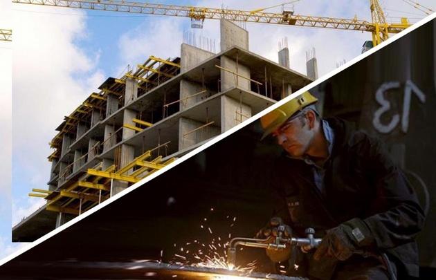 La construcción y la industria siguen en caída.