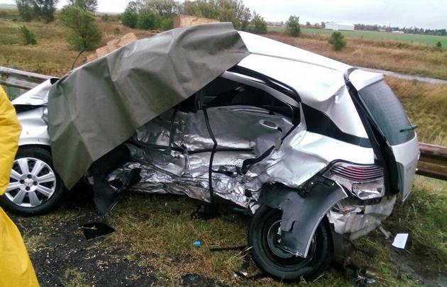 El accidente se produjo en el kilómetro 630, de la ruta 8.