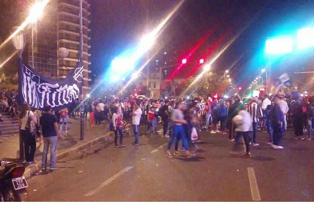 Incidentes en los festejos de Talleres en Córdoba.