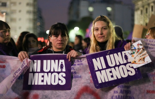 La jornada es impulsada por el colectivo #NiUnaMenos (Foto: Juan Pablo Librera).