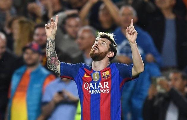 Messi marcó tres goles en el triunfo de ayer ante el City.