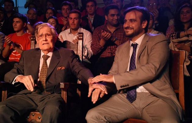 Angeloz y Diego Mestre, en el homenaje al ex gobernador.