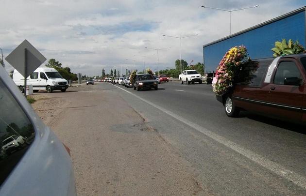 Cortejo fúnebre de las víctimas del triple crimen.