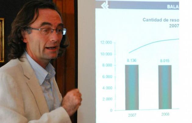 Osvaldo Giordano, ministro de Economía de la Provincia.