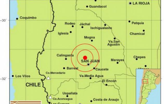 El epicentro del sismo se ubicó en la provincia de San Juan.
