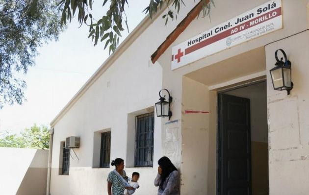 La pequeña fue atendida en el Hospital Morillo.