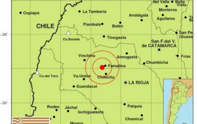 Un fuerte sismo sacudió a La Rioja.