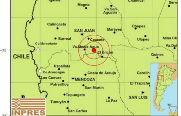 Un sismo de 3,9 grados hizo temblar a San Juan.