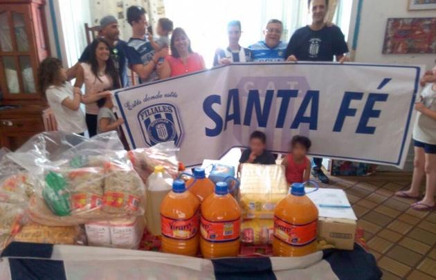 La filial Santa Fe de Talleres apadrinó al hogar Estrada.