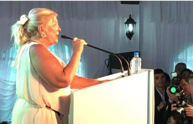 Elisa Carrió celebró los 15 años de la CC-ARI (Foto de Twitter)