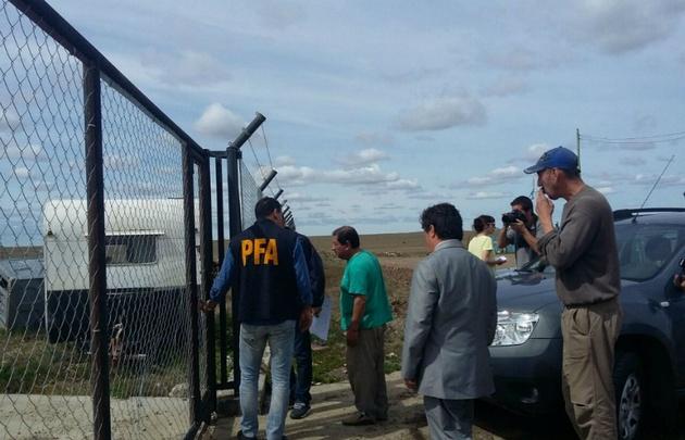 El fiscal Marijuan encabezó los allanamientos en Santa Cruz.