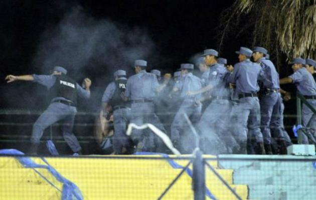 Represión en Formosa a Hinchas de Belgrano