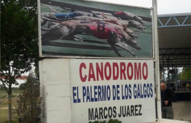 El canódromo de Marcos Juárez, sede de las carreras este fin de esmana.