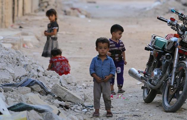 Es crítica la situación de los niños de Alepo.