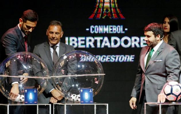 La Conmebol sorteó el fixture en Asunción de Paraguay.