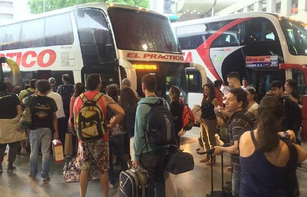 La asamblea de este lunes fue de 6 a 8 en la terminal de Córdoba.