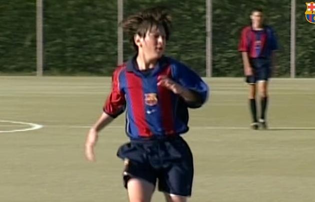 Imágenes inéditas de Messi en La Masía.