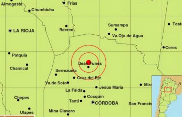 El sismo tuvo epicentro en Deán Funes.