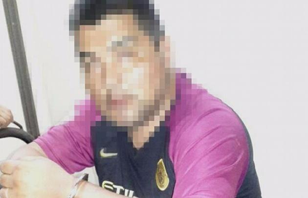 El subcomisario Barrionuevo detenido tras el asalto del sábado.