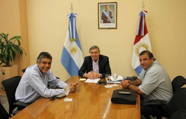 Romero, junto a Massei y García, en la reunión que tuvieron por el tema seguridad.