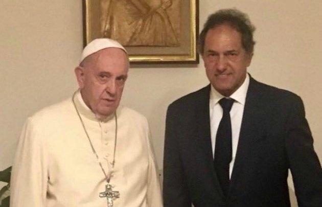 Scioli fue recibido por Francisco en una audiencia privada