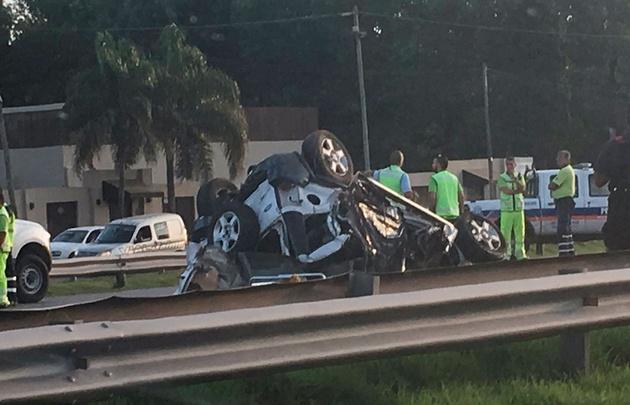 Accidente fatal en Panamericana (Foto: @juampizanotto).
