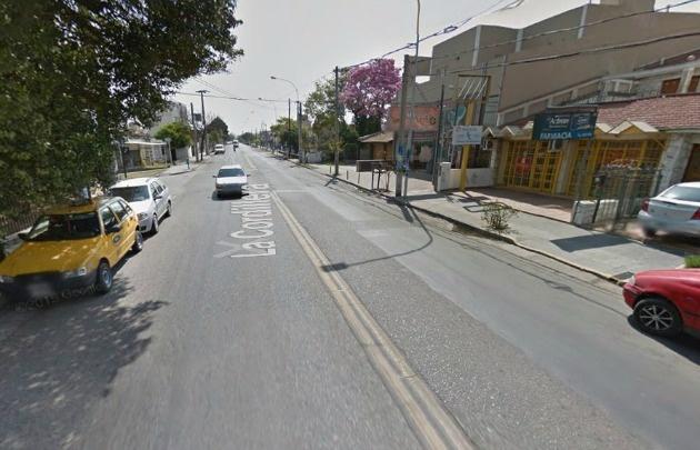 La avenida La Cordillera, una de las más castigadas por la delincuencia.