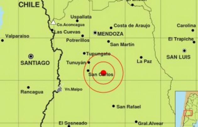 El sismo se produjo a 10 kilómetros de profundidad.
