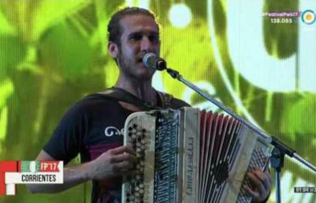 Fabián Meza en la Fiesta del Chamamé.
