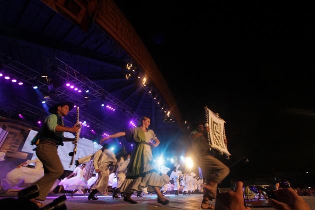 El ballet Camin sobre el escenario.