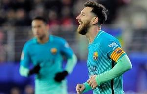 Messi marcó un gol en el triunfo de Barcelona sobre Eibar.