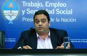 Jorge Triaca, ministro de Trabajo de la Nación.
