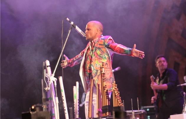 Mauro Coletti, de Los Tekis, estuvo feliz de volver al escenario de Cosquín