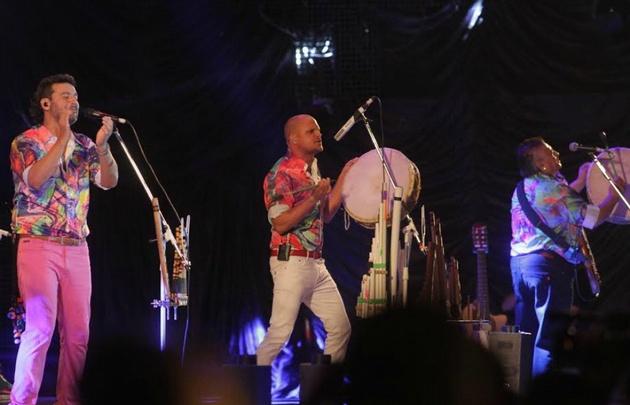 Los Tekis en el festival de Cosquín.