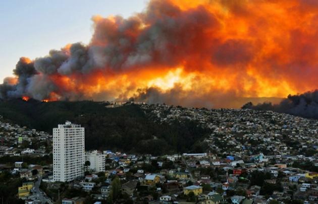 El gobierno ya declaró la zona de catástrofe.